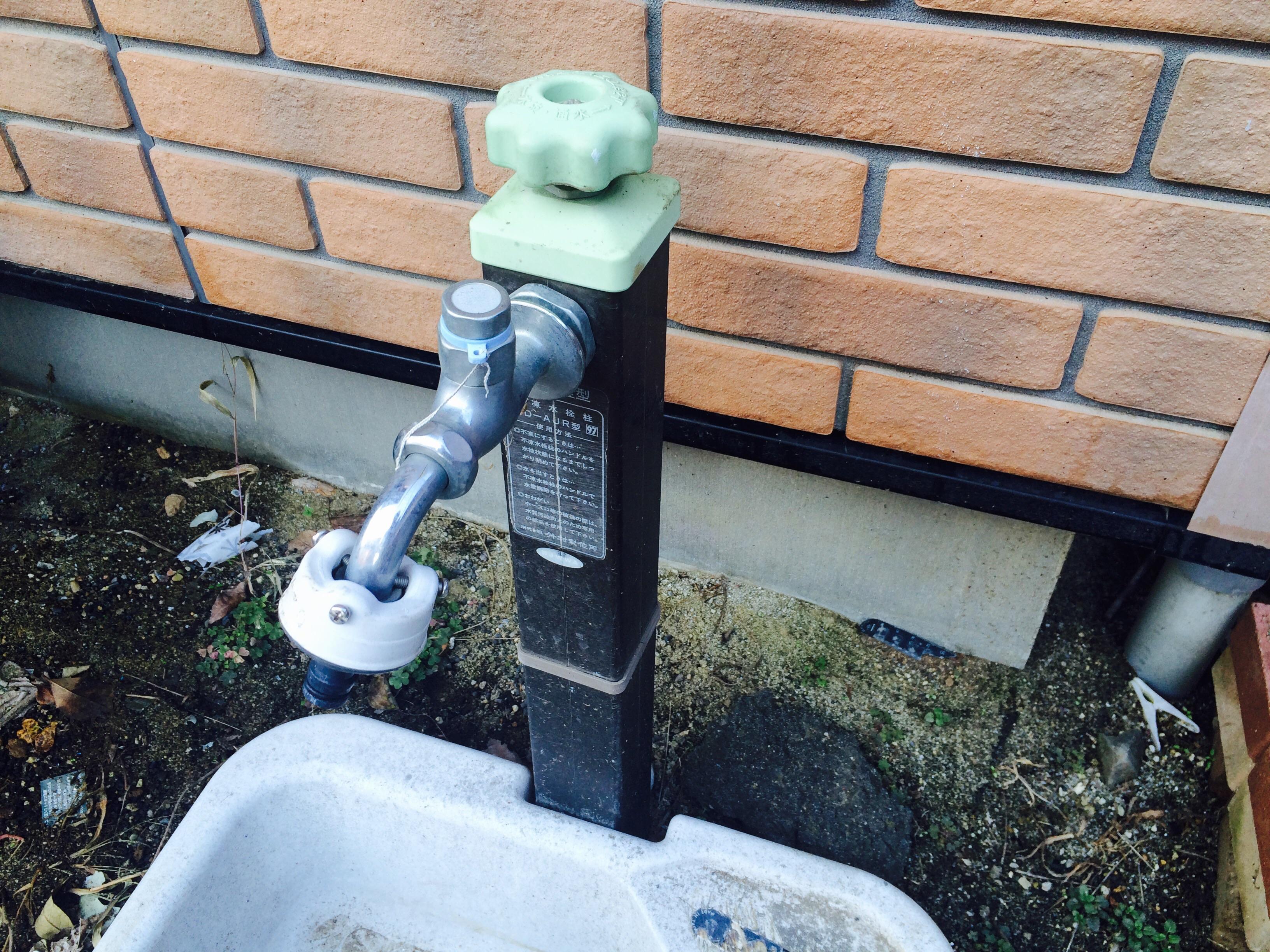 庭の散水栓を立水栓に交換する   おうちごと