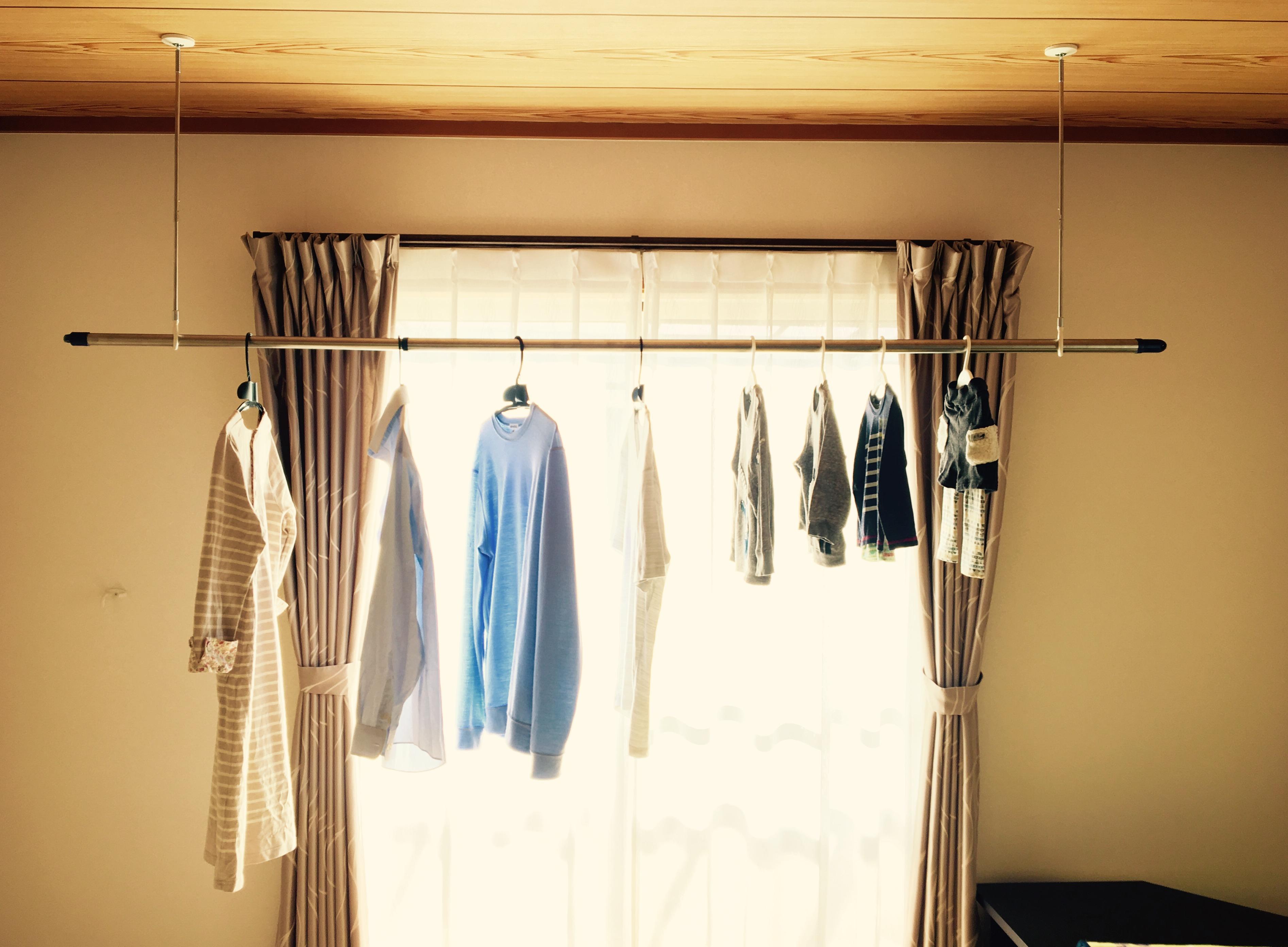 室内物干し用ホスクリーンをDIYで取り付ける方法 - 注文住宅ラボ