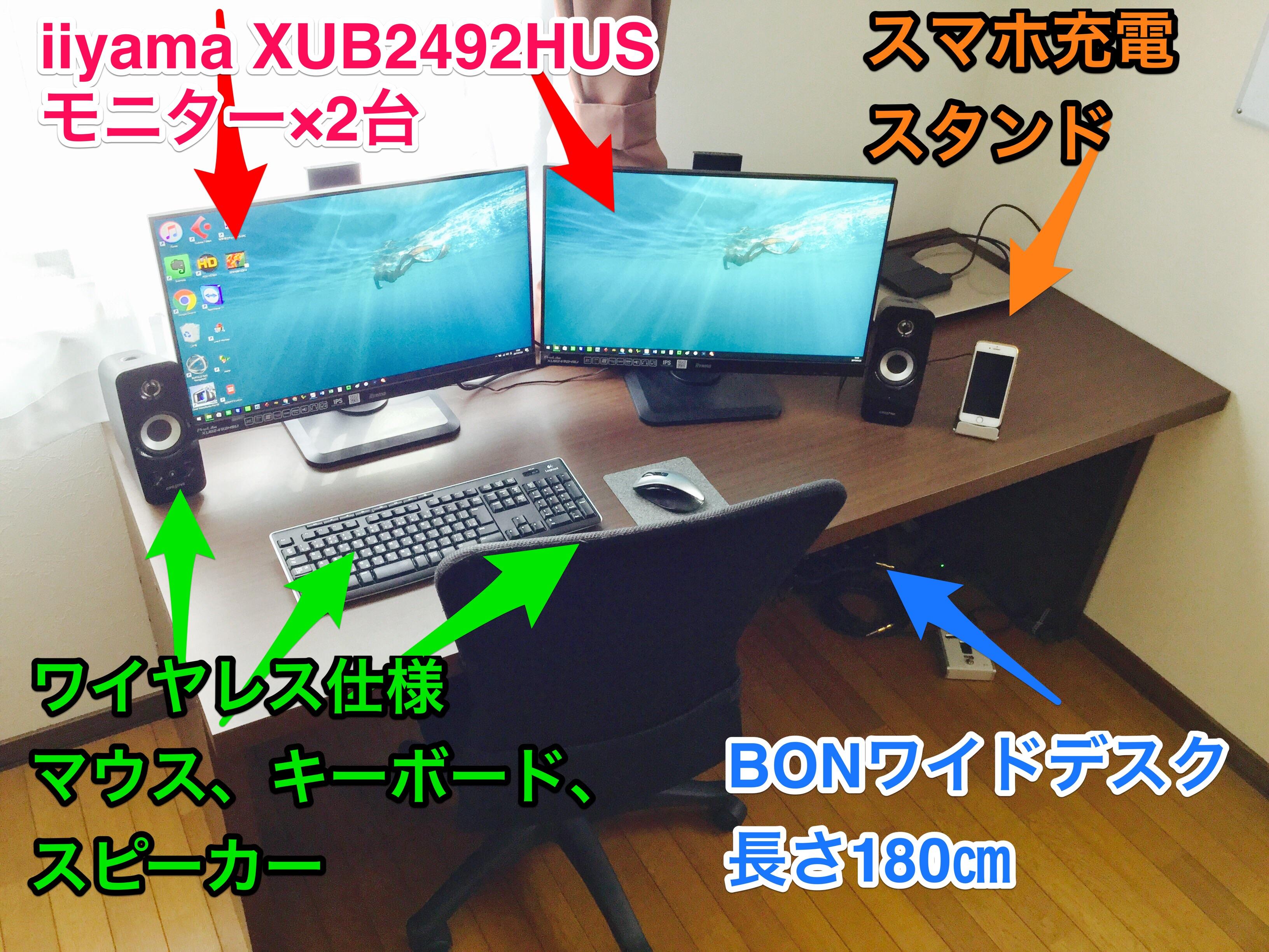 作業が捗る 仕事部屋 書斎にオススメのpcデスク モニター 周辺機器