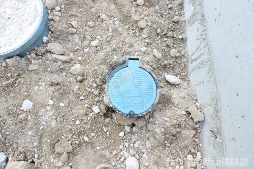 新築工事 水抜栓