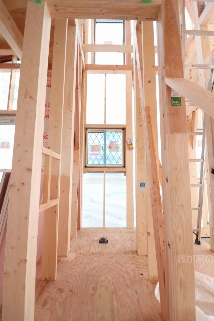 木造新築工事のトイレ