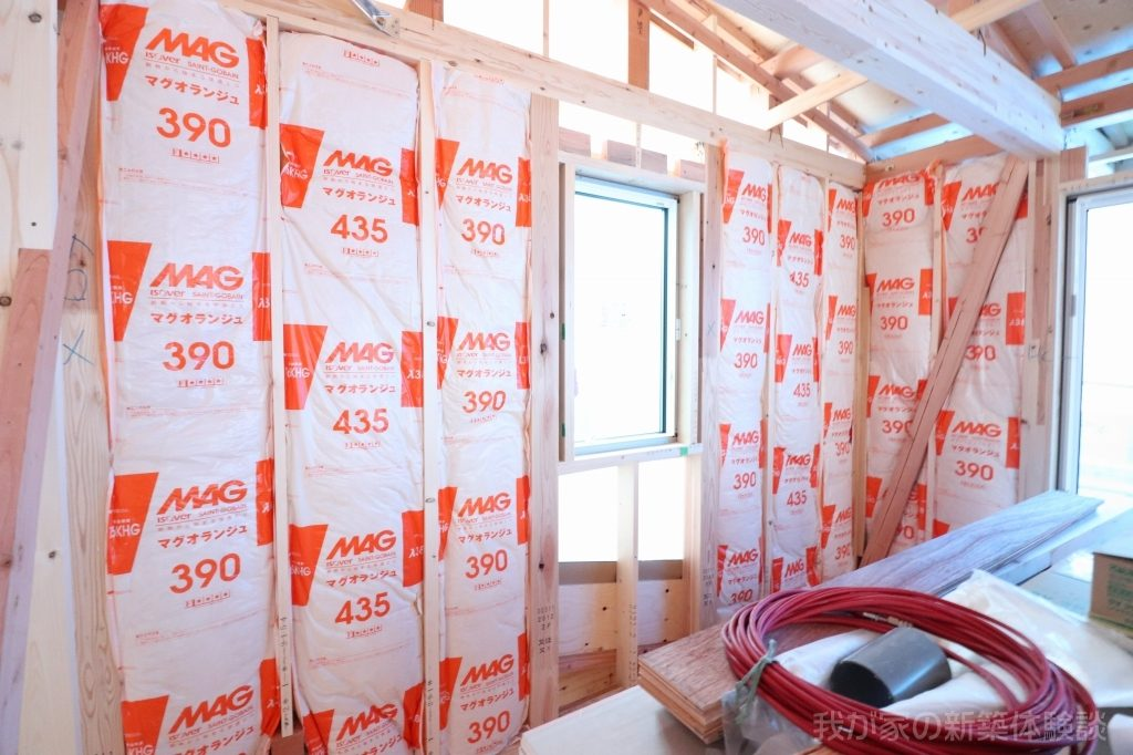 木造新築工事の断熱材