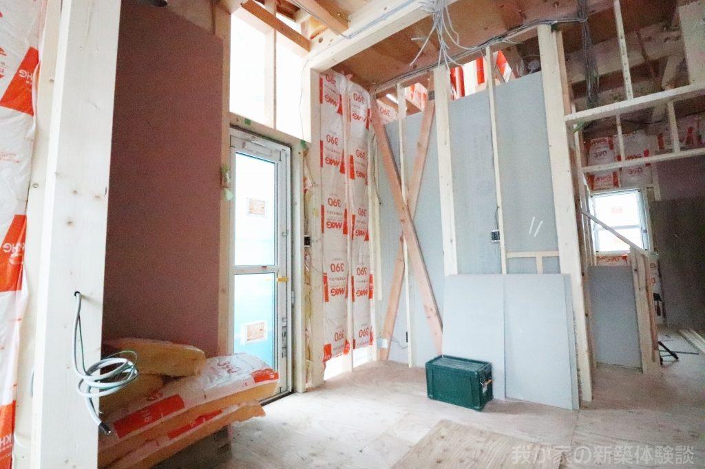 木造新築工事の筋交