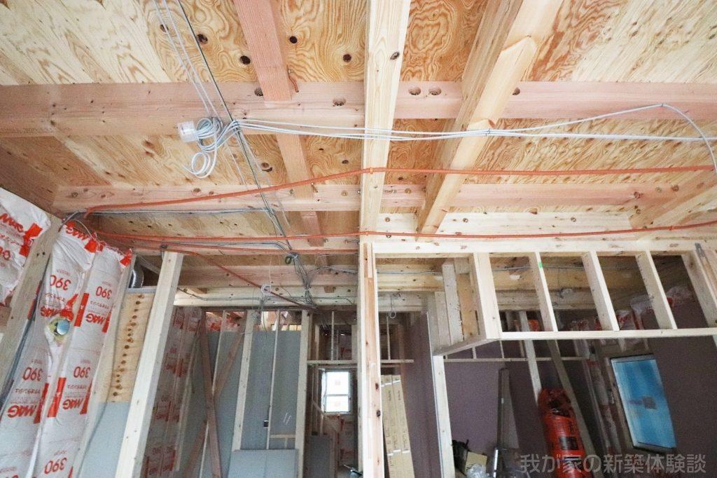 木造新築工事の電気配線工事