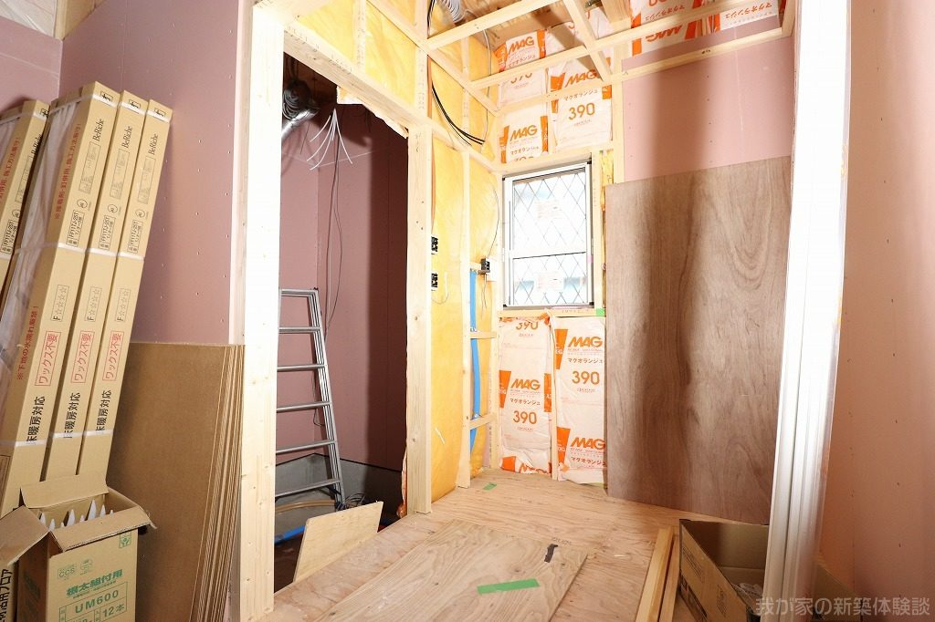 木造新築工事の石膏ボード