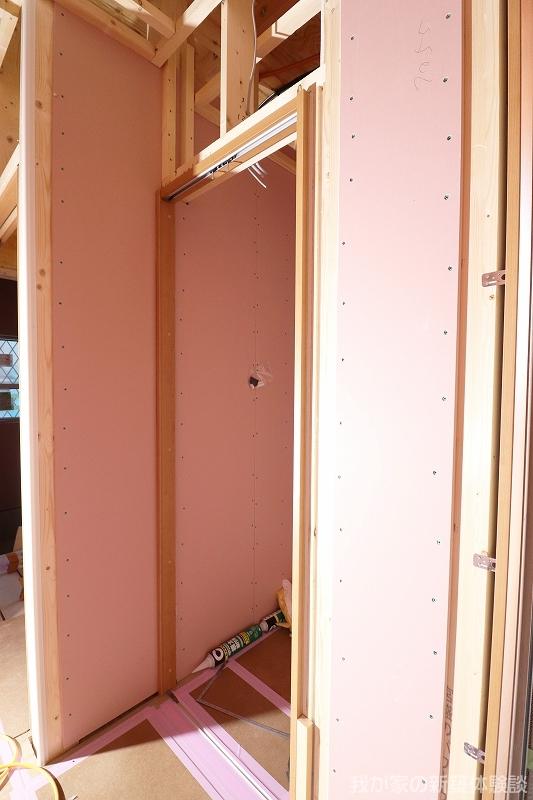 木造新築工事のクローゼット