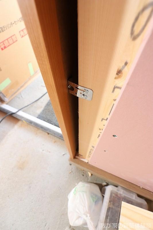 木造新築工事のドア枠