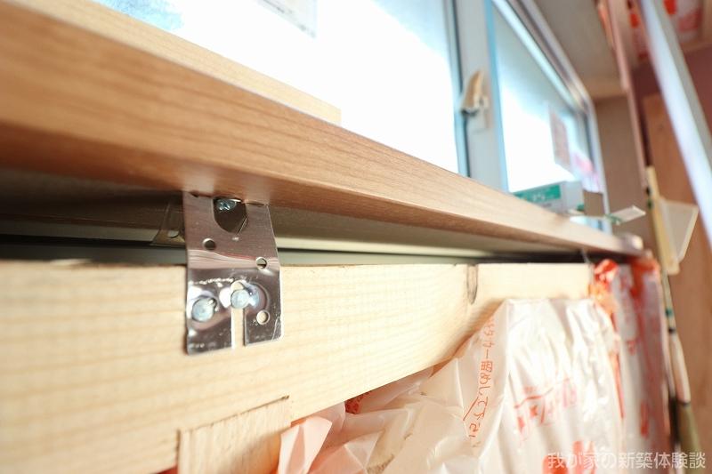 木造新築工事の窓枠