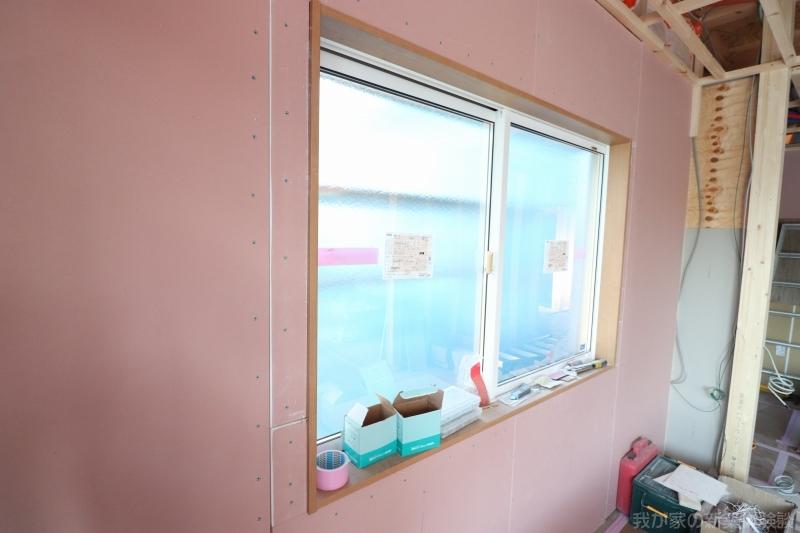 木造新築住宅の窓枠