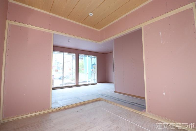 木造新築工事の和室造作