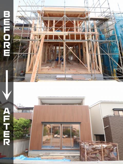 新築工事の外壁張り