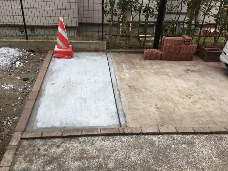 駐車場スペース拡張