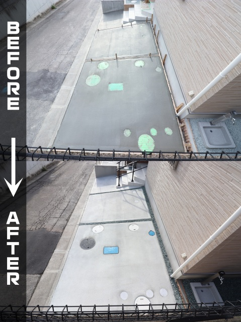 新築外構工事 駐車場土間コンクリート