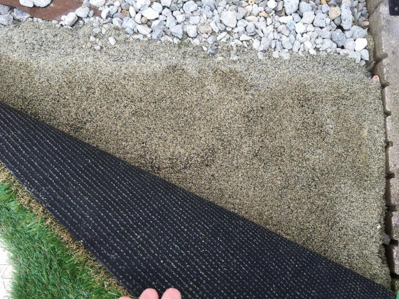 庭のリフォーム 人工芝敷き