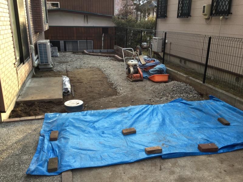 庭のリフォーム 水捌け改善